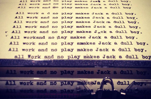 typewriter-shining